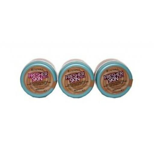 3 x Rimmel Fresher Skin Breathable Natural Finish Foundation | Mocha | RRP £22