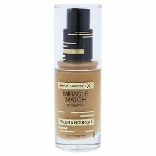 Max Factor Miracle Match Foundation | Soft Honey | Blur & Nourish | RRP £12.99