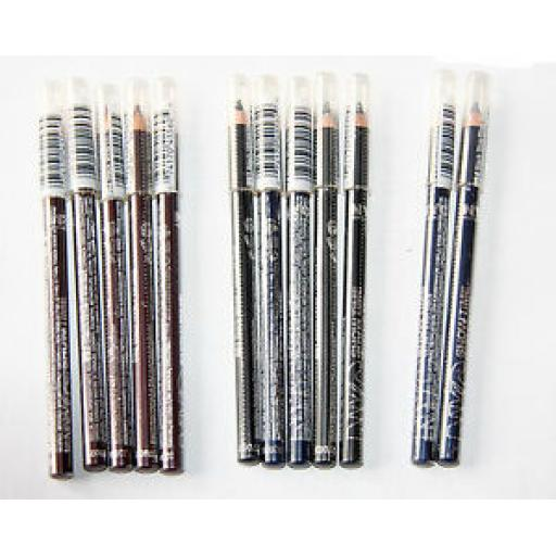 36 x NYC Showtime Velvet Eyeliner Pencils | 3 shades | Wholesale Job Lot